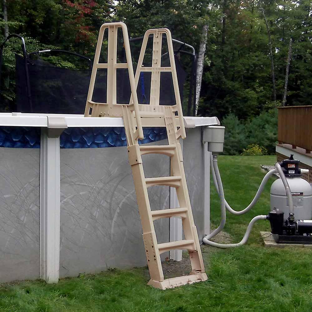 A frame ladder for above ground pools - Above ground pool platform ...