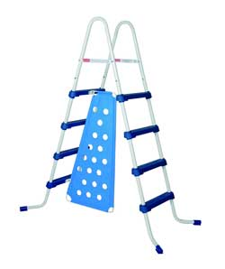 Economy A-Frame Pool Ladder with Safety Barrier