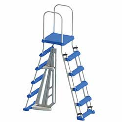 A-Frame Entry Ladder with Safety Barrier