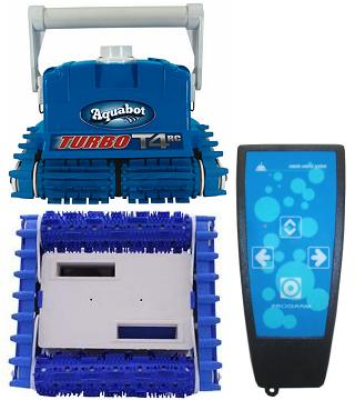 Aquabot Turbo T4 Remote Control Automatic Pool Cleaner