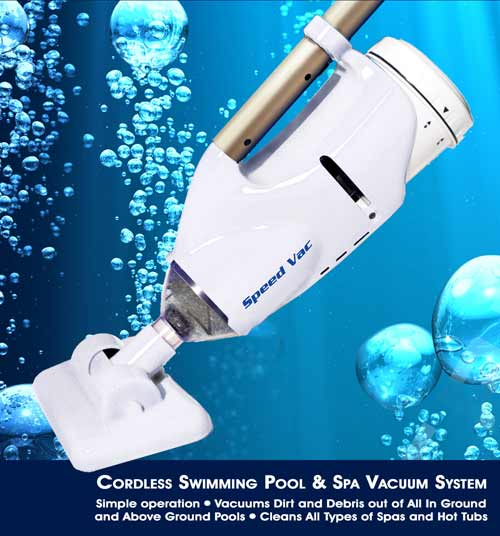 Speed Vac Cordless Swimming Pool and Spa Vacuum