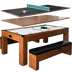 Carmelli Sherwood 7 ft. Air Hockey Table with Benches