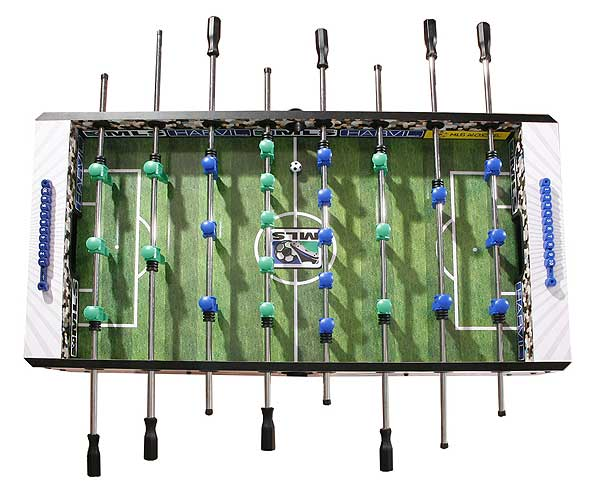 Includes ball cup and chrome plated rods.  sc 1 st  FamilyPoolFun.com & 54 inch MLS Defender Foosball Soccer Table