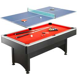 Maverick 7 ft. Pool Table with Table Tennis