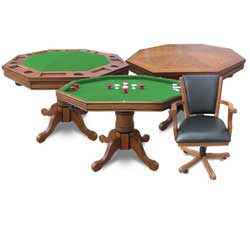 Kingston 3-in-1 Poker Table and 4 Chairs