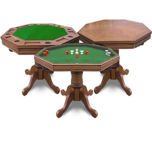 Kingston 3 In 1 Poker Table And 4 Chairs