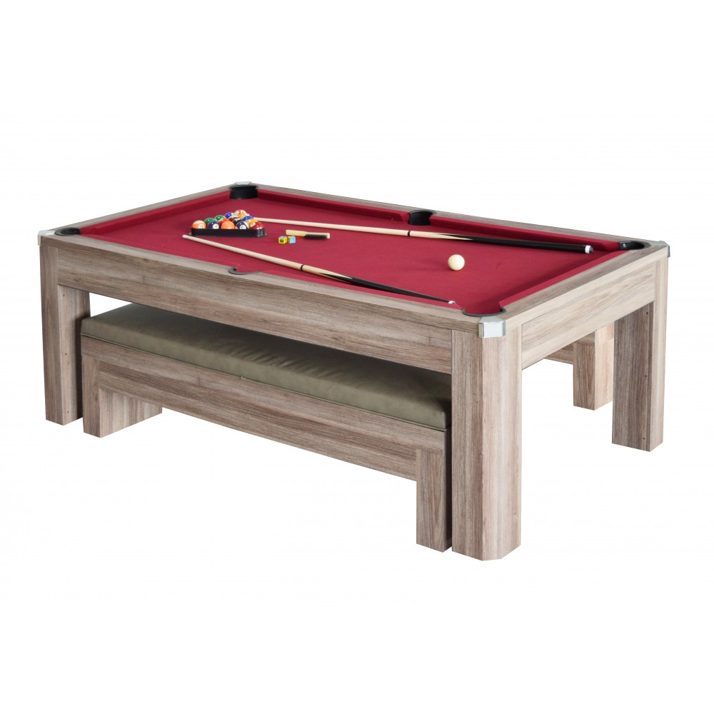 Ordinaire Newport 7 Ft. Pool Table Set With Benches
