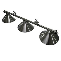 Soft Brushed Stainless Steel 3-Shade Billiard Light