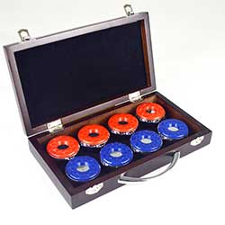 Shuffleboard Game Table Pucks and Carry Case