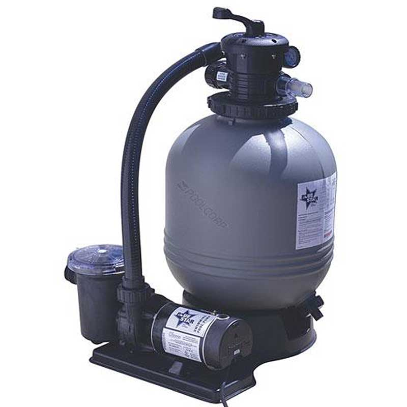 Blue star 22 inch 1 5 hp 2 speed sand filter for Best above ground pool pump