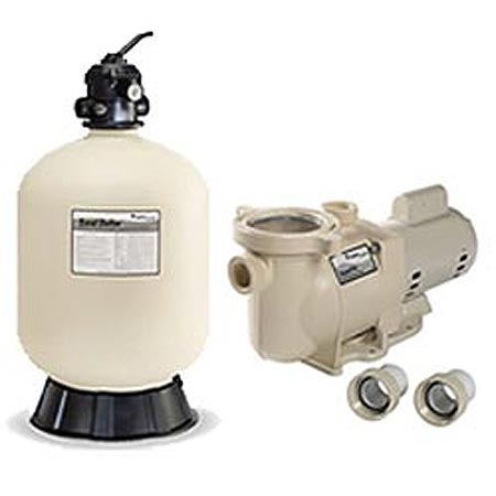 Pentair superflo pump and sand dollar sand filter system for Inground pool pump and filter systems