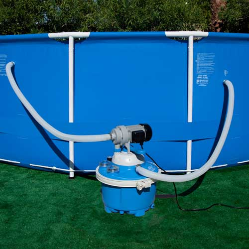 Sandpro 20es sand filter and pump system for Above ground pool motors
