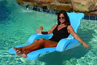 Scalloped Unsinkable Pool Chaise Lounger