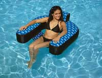 Fabric Covered Suspending Pool Chair