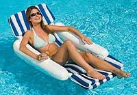 Sunchaser Padded Floating Swimming Pool Lounger