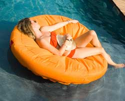 SunSoft Fabric Covered Pool Lounger