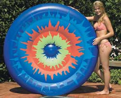 Tie Dye Island Inflatable Pool Lounger