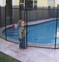 In Ground Pool Removeable Safety Fence