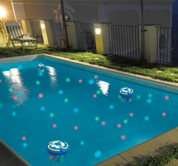go everywhere swimming pool light show