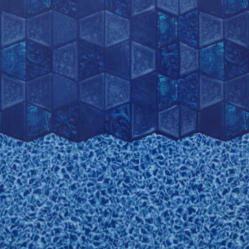 Hampton Tile Commercial 25ga 54 Inch Beaded Swimming Pool Liner