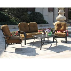 Sereno Bay 4 Piece Cushioned Patio Set