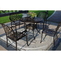 Royal Isle 5 Piece Patio Dining Set