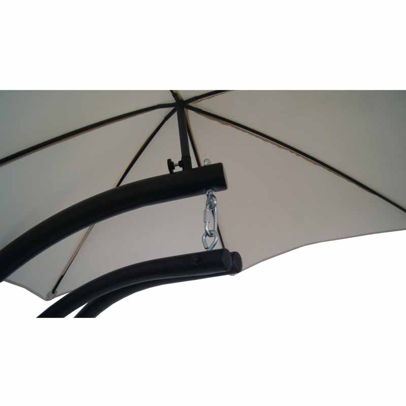 Hanging Patio Lounge With Shade Canopy