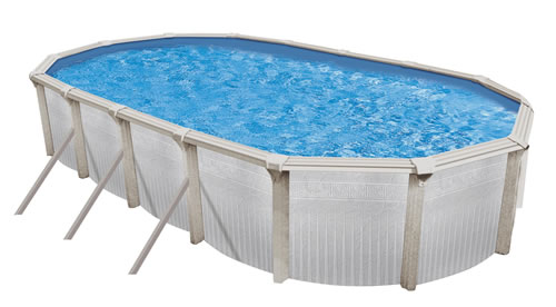 Aegean 52 above ground swimming pool kit for Oval above ground swimming pool sizes