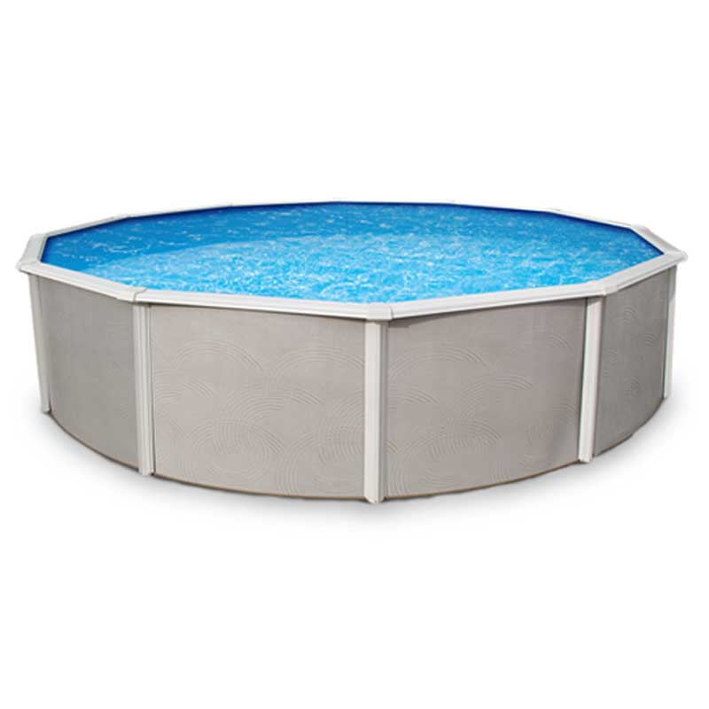 Belize 52 steel above ground swimming pool kit for Above ground swimming pool kits