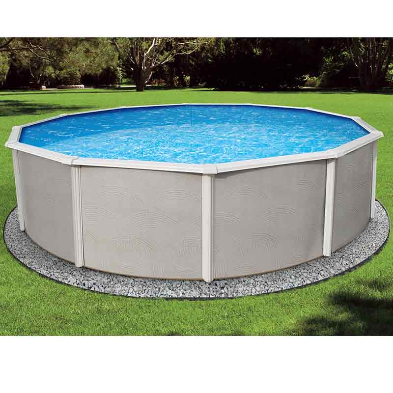 Belize 48 steel above ground swimming pool kit for Above ground swimming pool kits
