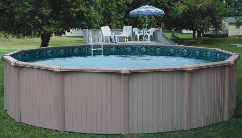 Bermuda 54 above ground swimming pool kit for Oval above ground swimming pool sizes
