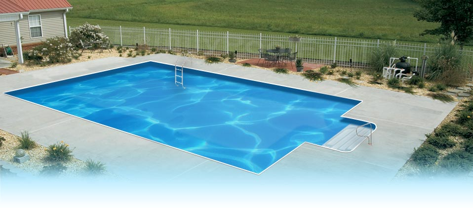 EnduraPool Rectangle In Ground Swimming Pool Kit