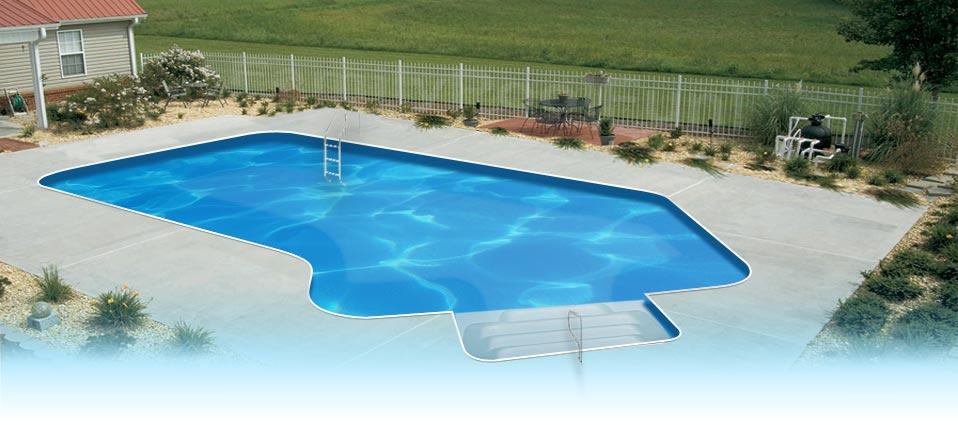 EnduraPool Lazy-L In Ground Swimming Pool Kit