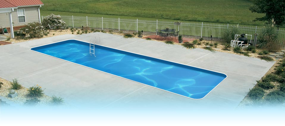 EnduraPool Lap Pool In Ground Swimming Pool Kit