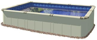 EZ Panel Grand 52 in. Aluminum Above Ground Pool