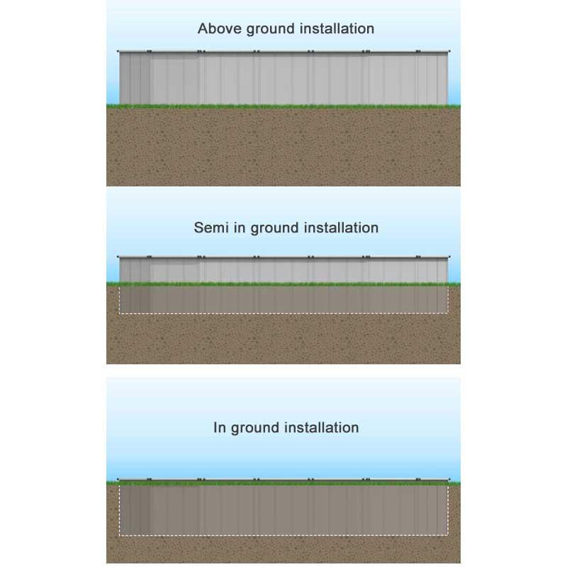 Ez Panel Grand 52 Quot Aluminum Above Ground Swimming Pool