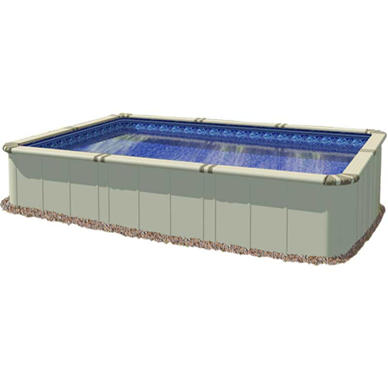 Ez panel grand 52 aluminum above ground swimming pool for Square above ground pool