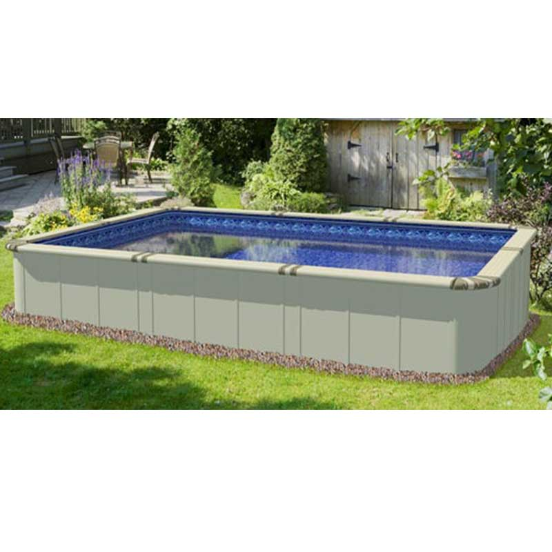 "Square Above Ground Pool ez panel grand 52"" aluminum above ground swimming pool"
