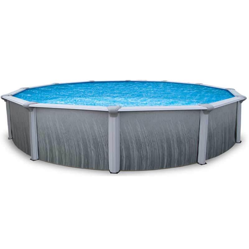Martinique 52 steel above ground swimming pool kit for Steel above ground swimming pools