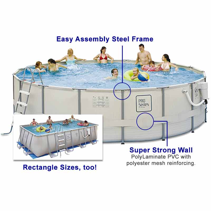 ProSeries Softside Steel Frame AboveGround Swimming Pool Kit