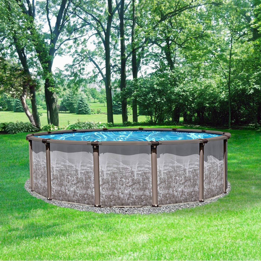 Riviera regency 54 in resin above ground pool for Resin above ground swimming pools
