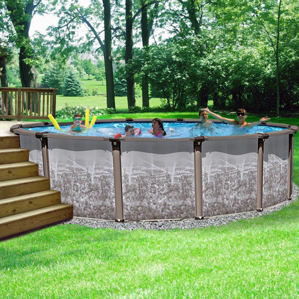 Riviera regency 54 in resin above ground pool for Most popular above ground pools
