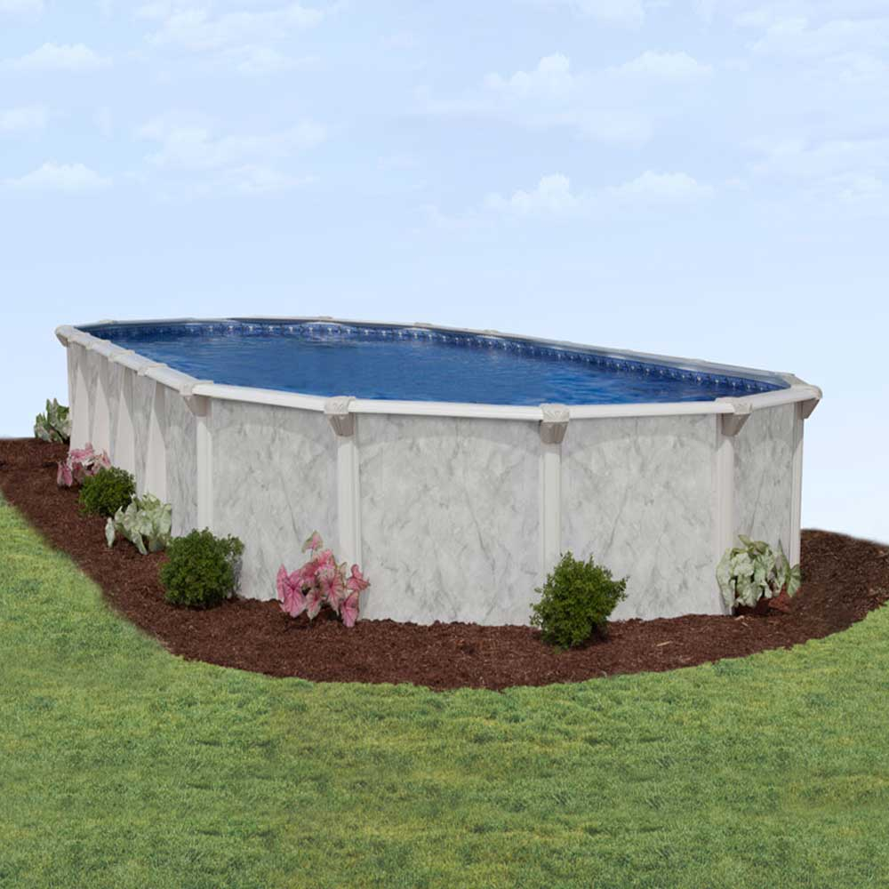 St kitts ez 54 in resin above ground pool for Resin above ground swimming pools