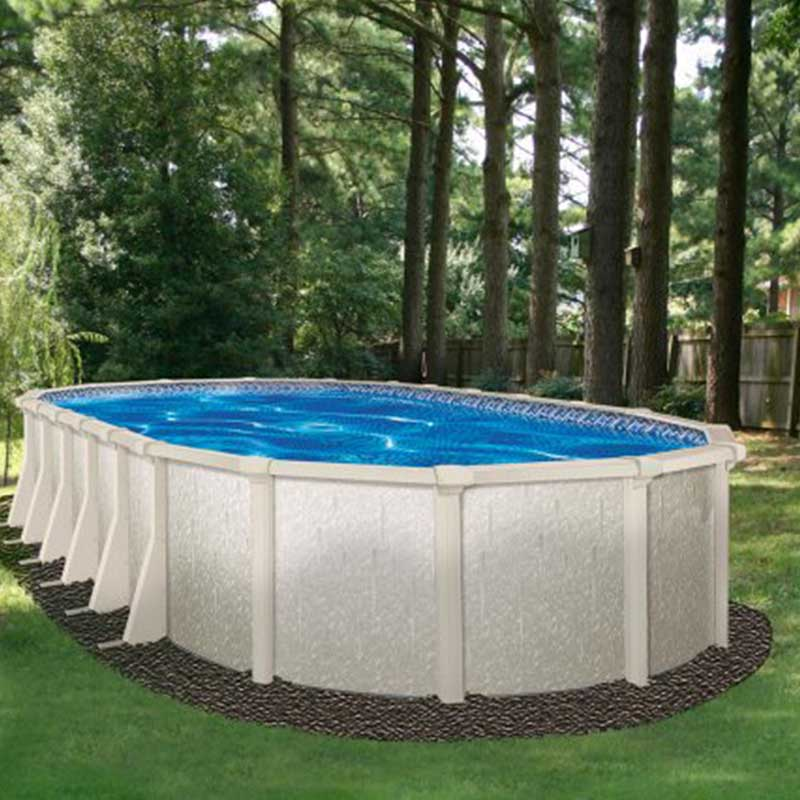 Venetian 54 above ground swimming pool kit for Oval swimming pool