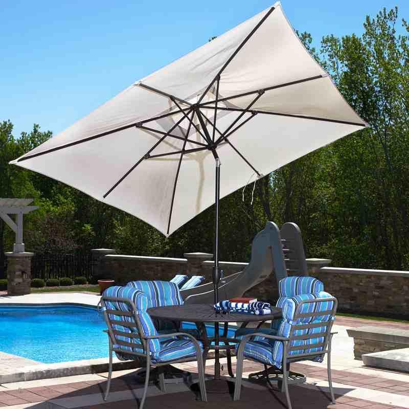 Adriatic Rectangular Patio Umbrella With Autotilt