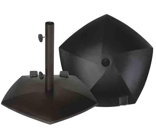 80 lb pentagon umbrella base with wheels