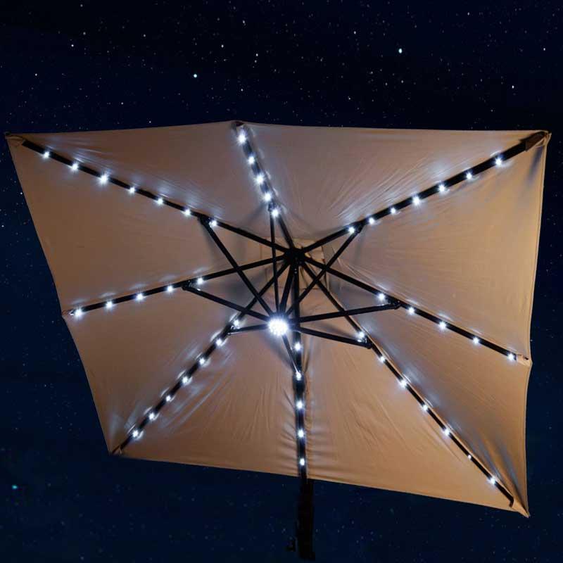Santorini Ii Square Fiesta Cantilever Umbrella