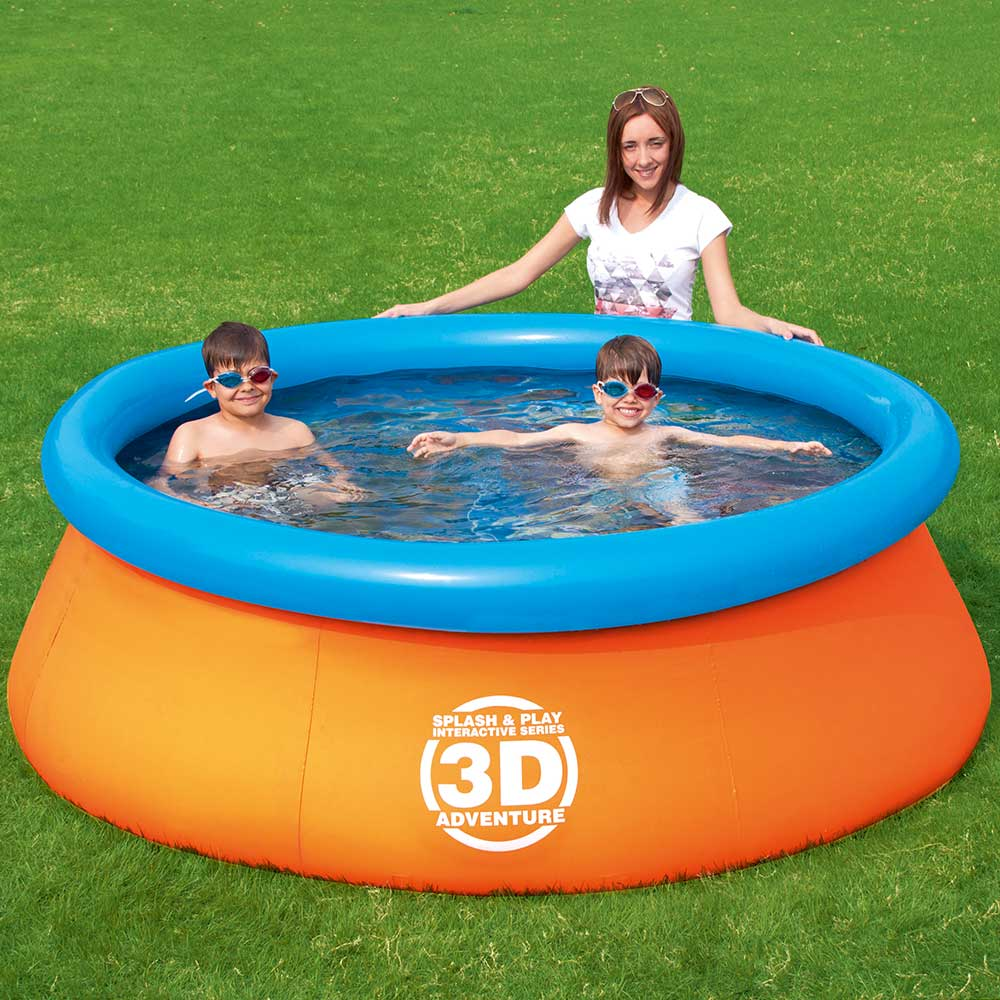 splash n play 3d adventure round fast set family swimming pool. Black Bedroom Furniture Sets. Home Design Ideas