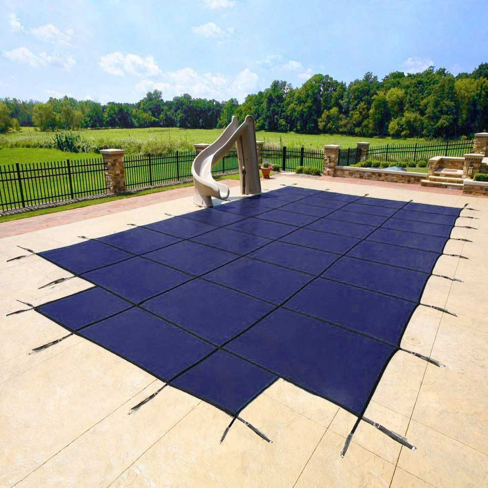 Pool Size 14' x 28' - Cover Size 16' x 30' - Blue