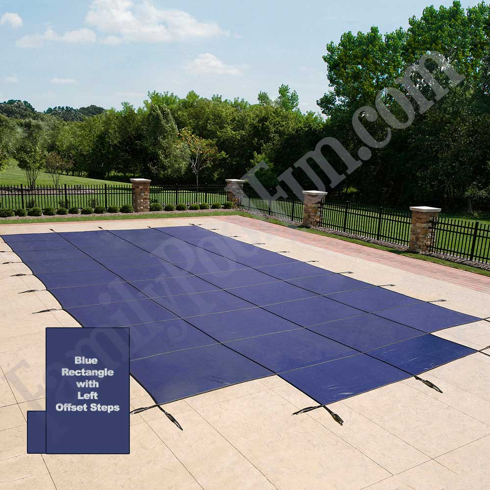 Year heavy duty in ground pool mesh safety covers with
